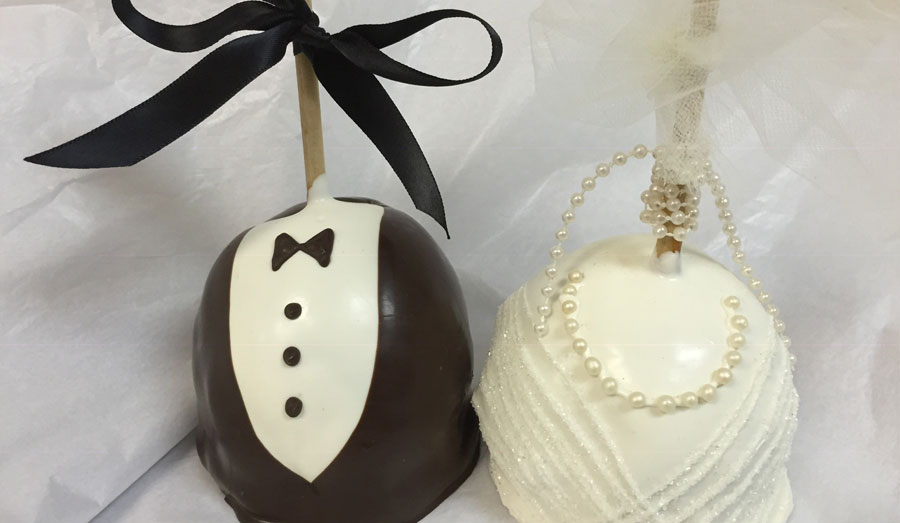 Bride and Groom Chocolates by Gotta Sweet Tooth